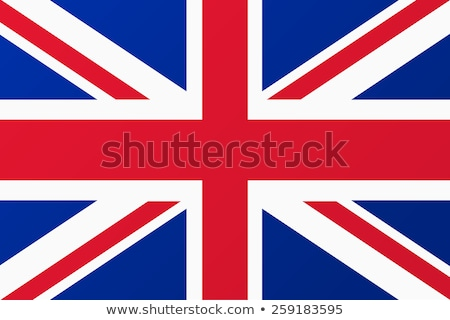 grã-bretanha · bandeira · pintar · pintado · branco · fronteira - foto stock © marinini