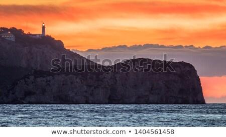 Cape Nao in Mediterranean Sea Spain on blue summer day stock photo © lunamarina