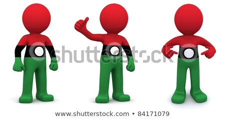 3d character textured with flag of Malawi Stock photo © Kirill_M