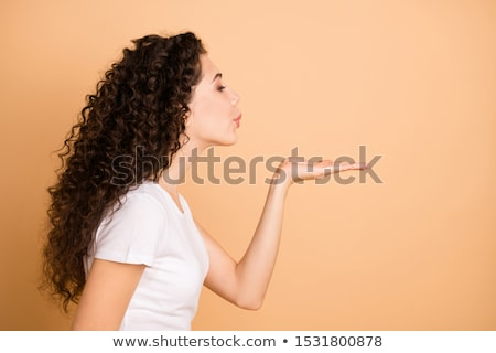 Beso mujer hermosa aislado blanco nina Foto stock © iko