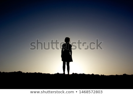 Young Girl Silhouettes Stock photo © derocz