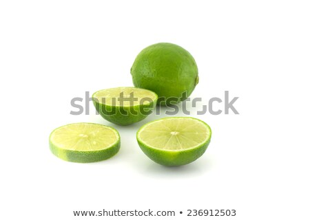 Citrus lime fruit segment isolated on white background cutout  Stock photo © natika