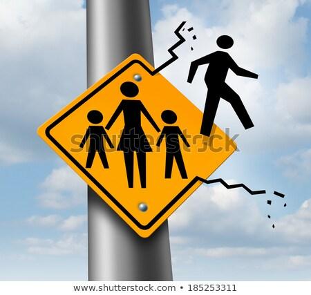 criança · pai · ou · mãe · separação · parental · comunicação · problema - foto stock © lightsource
