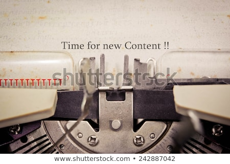 Content Marketing Concept. Vintage design. Stock photo © tashatuvango