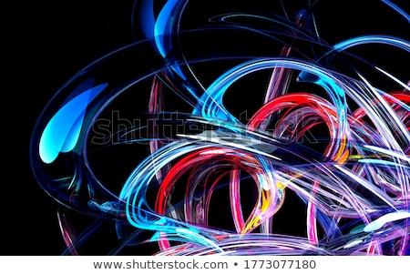 blue smooth twist light lines background stock photo © beholdereye