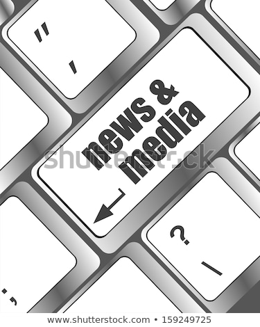 Digital News Concept on Blue Puzzle. Stock photo © tashatuvango