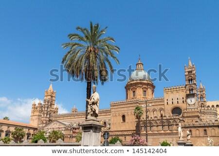 Katedry sycylia budynku miasta kościoła miejskich Zdjęcia stock © Dserra1
