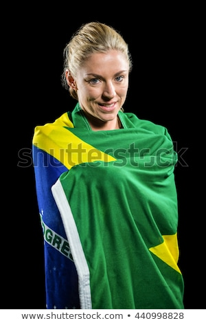 Woman Wrapped in a Flag Stock photo © piedmontphoto