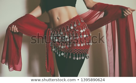 Belly dancer in red Stock photo © phakimata
