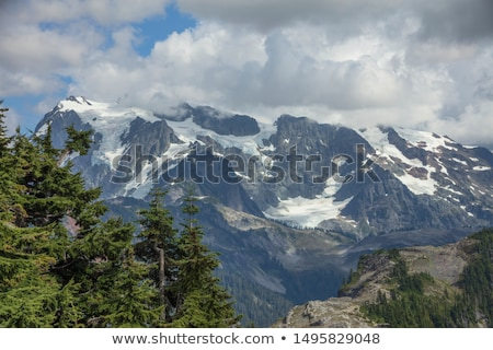 Mount Baker Under Clouds from Artist Point Washington State Stock photo © billperry