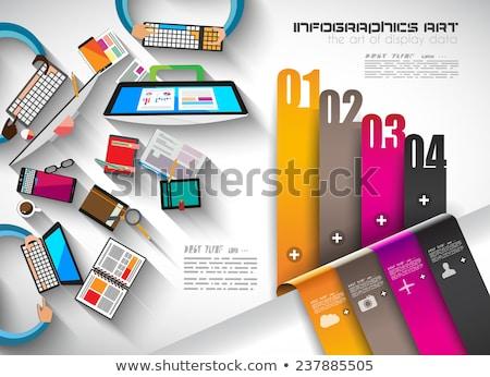 Modelo ui ícones marketing Foto stock © DavidArts