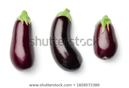 raw eggplant Stock photo © M-studio