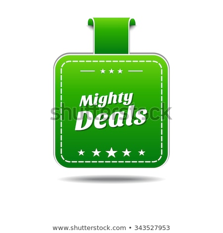 Mighty Deals Green Vector Icon Design Stock photo © rizwanali3d