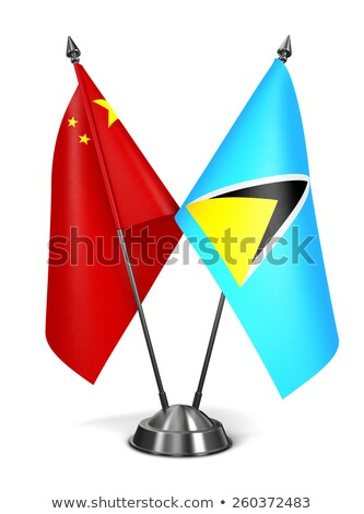 China and Saint Lucia - Miniature Flags. Stock photo © tashatuvango