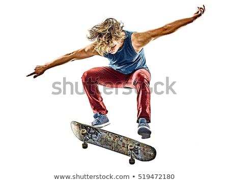 skateboard isolated on a white background. Stock photo © ZARost