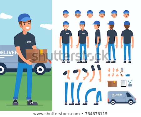 delivery service characters set stock photo © voysla