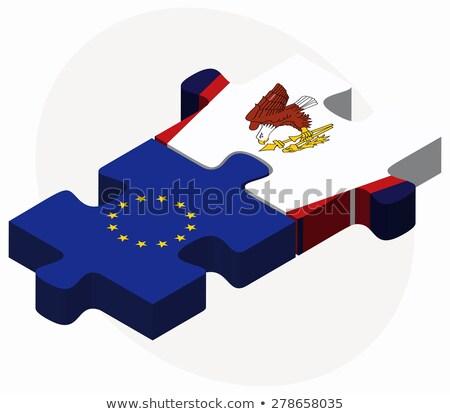 Europeu união Samoa Americana bandeiras quebra-cabeça vetor Foto stock © Istanbul2009
