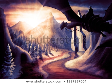 the icy knight in darkness stock photo © fisher