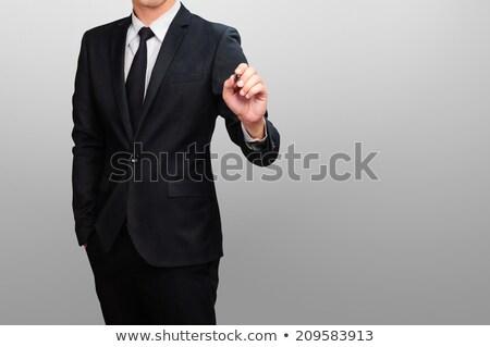 üzletember ír jelző fehér kéz vállalati Stock fotó © wavebreak_media