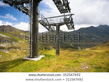nyár · tájkép · sí · üdülőhely · Ausztria · utazás - stock fotó © CaptureLight
