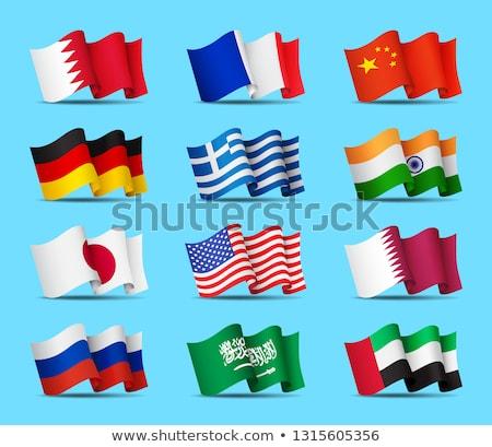 Emirados Árabes Unidos China bandeiras quebra-cabeça isolado branco Foto stock © Istanbul2009