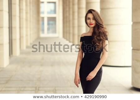 Gorgeous Business Woman Standing on Urban Street Stock photo © dash
