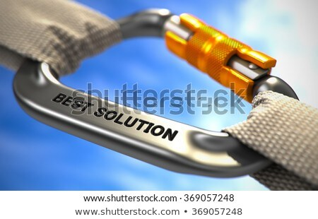 chrome carabiner with text success stock photo © tashatuvango