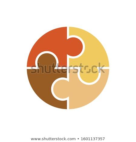 nemzetközi · nap · faji · diszkrimináció · iroda · narancs - stock fotó © shawlinmohd
