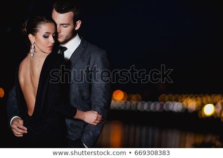 seksi · zarif · çift · ayakta · yakın · diğer - stok fotoğraf © feedough