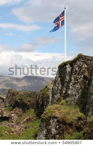 Flag at Thingvellir Stock photo © t3mujin