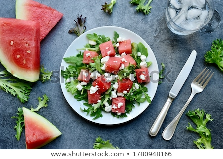 Watermelon salad Stock photo © racoolstudio