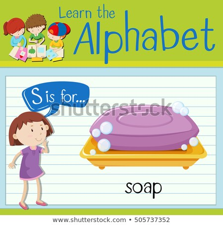 Flashcard letter S is for soap Stock photo © bluering