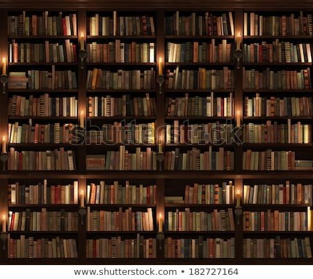 mysterious bookshelf stock photo © paulfleet