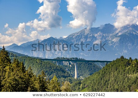 europe bridge at brenner highway in tirol stock photo © meinzahn