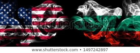 サッカー 炎 フラグ ブルガリア 黒 3次元の図 ストックフォト © MikhailMishchenko