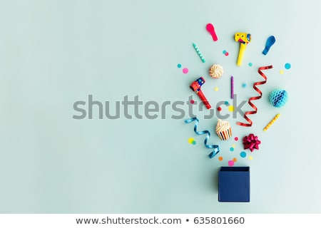 Background with Party Balloons and Confetti Stock photo © derocz