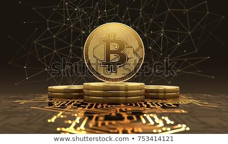 Bitcoin bányászat kód internet pénzügyi elektronikus Stock fotó © romvo