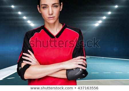 Kobiet sportowiec stwarzające łokieć broni ciało Zdjęcia stock © wavebreak_media