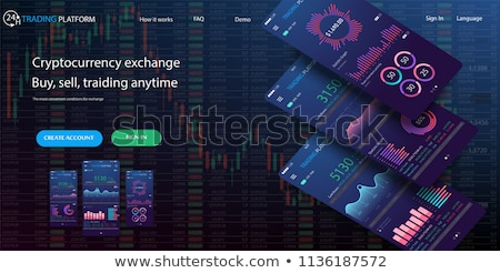 Cryptocurrency exchange terminal interface Stock photo © studioworkstock