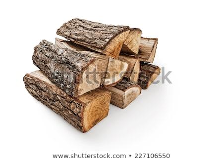 közelkép · tűzifa · köteg · tűzhely · fűtés · üzemanyag - stock fotó © arenacreative