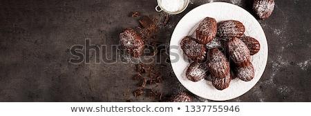 Eigengemaakt chocolade cookies vakantie partij levensmiddelen exemplaar ruimte Stockfoto © Melnyk