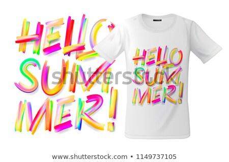 Hello Summer T-shirt design, modern print use for sweatshirts, souvenirs and other uses, vector illu Stock photo © ikopylov