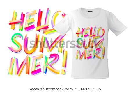 Ciao estate tshirt design moderno stampa Foto d'archivio © ikopylov