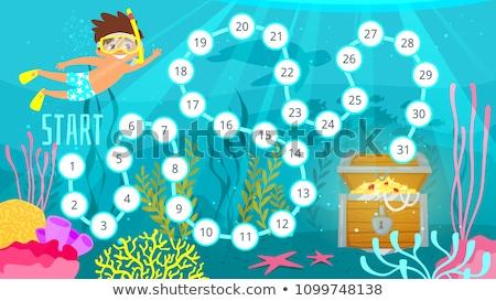 Oro pecho subacuático plantilla ilustración fondo Foto stock © bluering