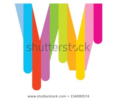 Niebieski zielone list w ikona poziomy Zdjęcia stock © cidepix