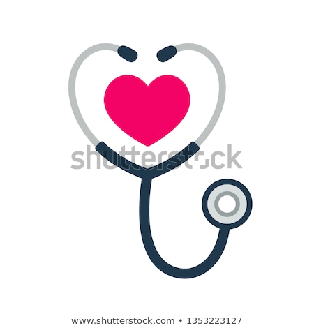 stethoscope with heart stock photo © get4net