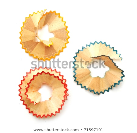 Sharpened pencil and wood shavings Stock photo © inxti