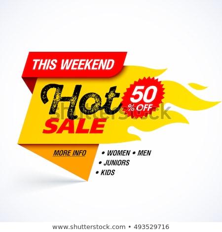 Hot prijs verkoop week banners Stockfoto © robuart