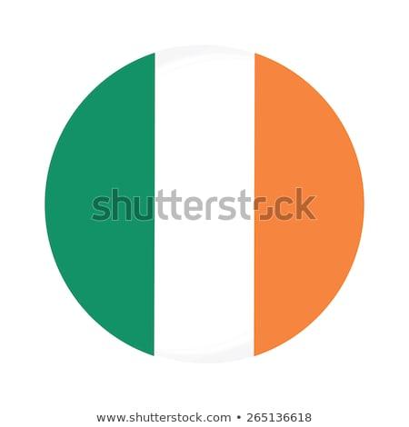 Flag of Ireland in round icon Stock photo © colematt