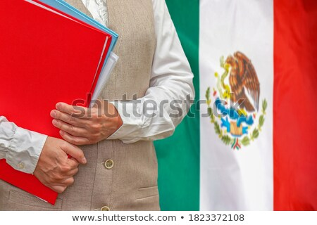 folder with flag of mexico stock photo © mikhailmishchenko